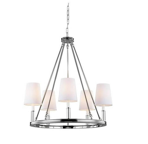 Lismore Chandelier by Feiss in Polished Nickel F2922/5PN