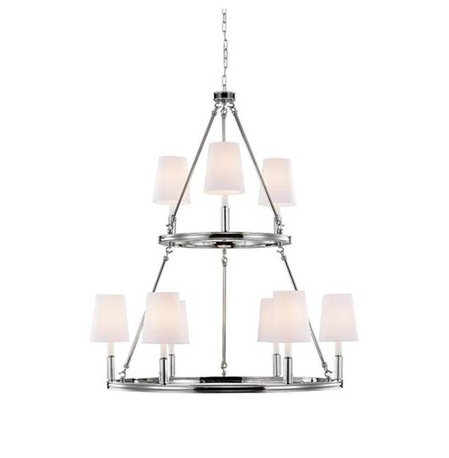 Lismore Chandelier by Feiss in Polished Nickel F2937/3+6PN