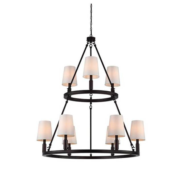 Lismore Chandelier by Feiss in Oil Rubbed Bronze F2937/3+6ORB