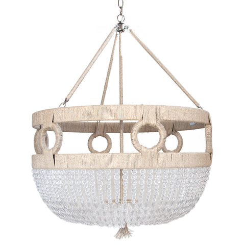 Ro Sham Beaux Frankie Malibu Chandelier with Clear Faceted Beads FM-24-CLR-FAC-NH-BR