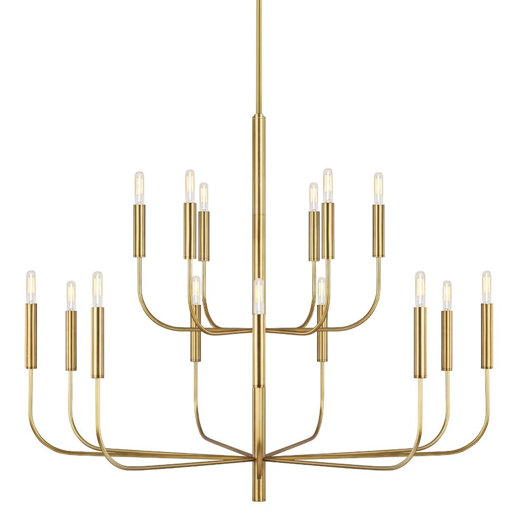 Fenella Chandelier, 15-Light Chandelier, Burnished Brass