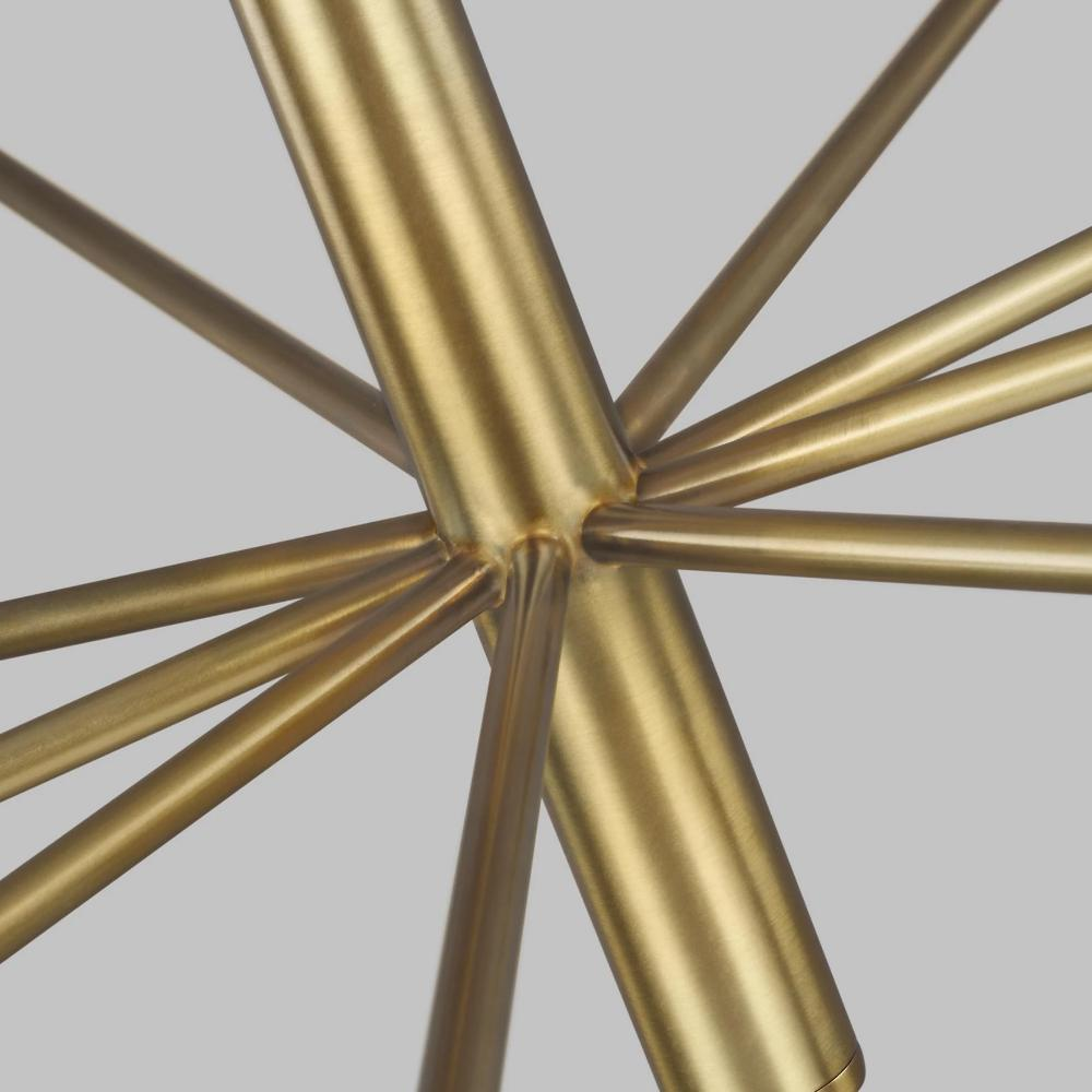 Up-close Shot of Fenella Chandelier, Burnished Brass