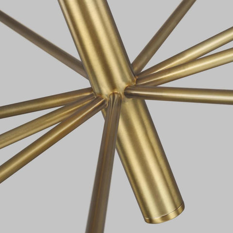 Up-close Shot of Brianna Chandelier, Burnished Brass