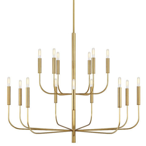 Brianna Chandelier, 15-Light Chandelier, Burnished Brass