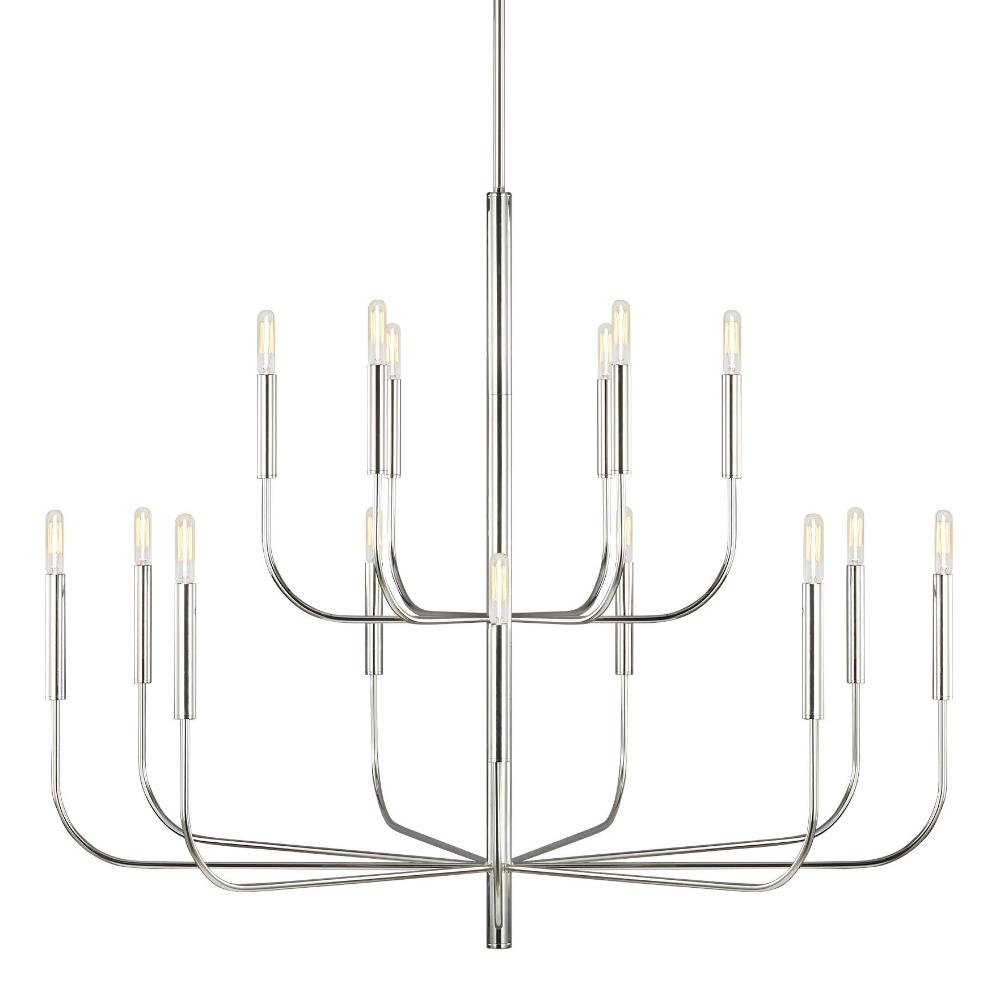Fenella Chandelier, 15-Light Chandelier, Polished Nickel