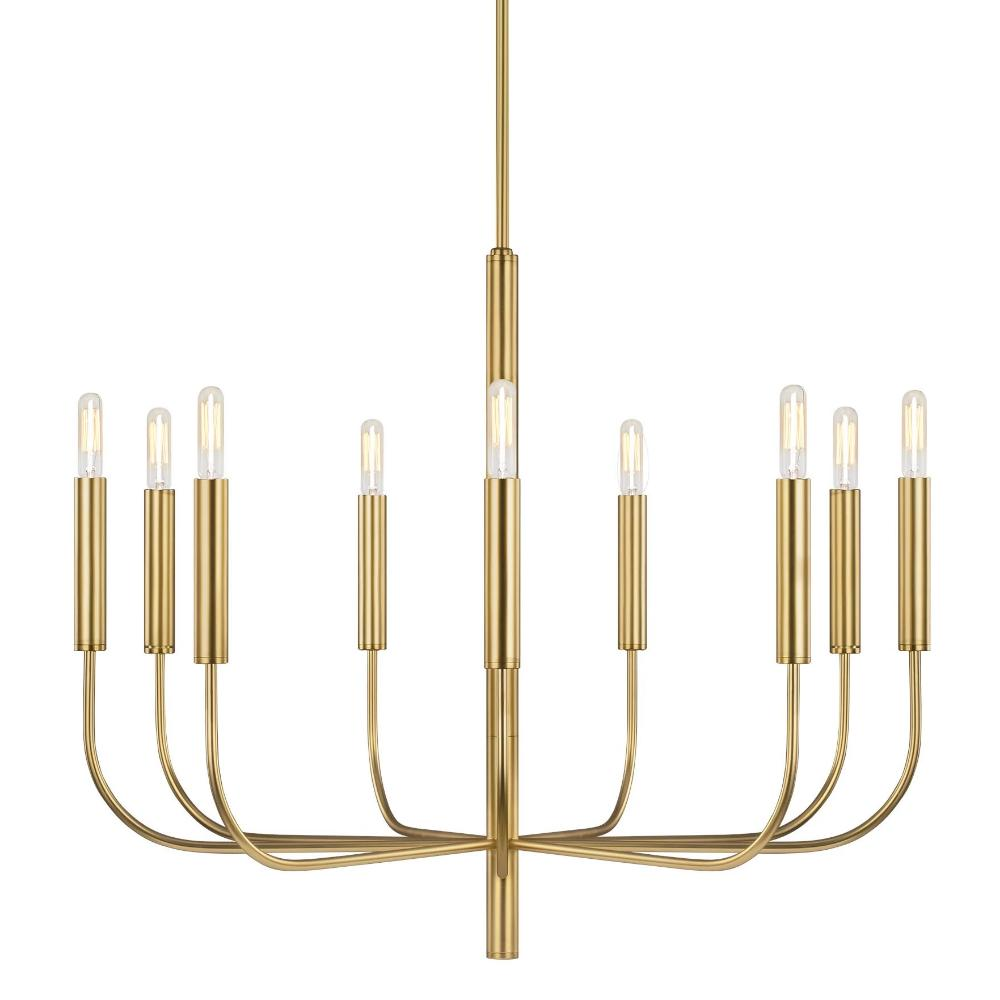 Brianna Chandelier, 9-Light Chandelier, Burnished Brass