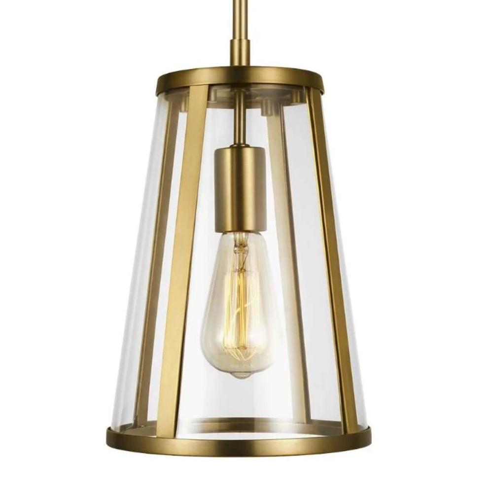 Harrow Pendant, 1-Light Mini Pendant, Burnished Brass
