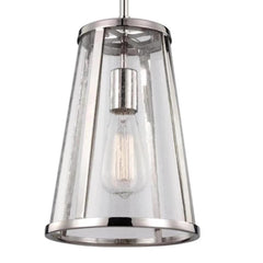 Harrow Pendant, 1-Light Mini Pendant, Polished Nickel