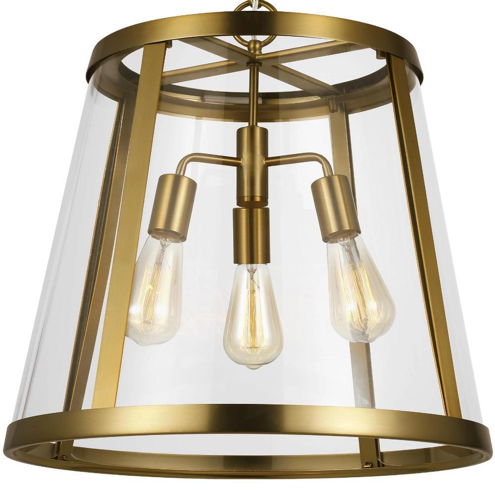 Harrow Pendant, 3-Light Pendant, Burnished Brass