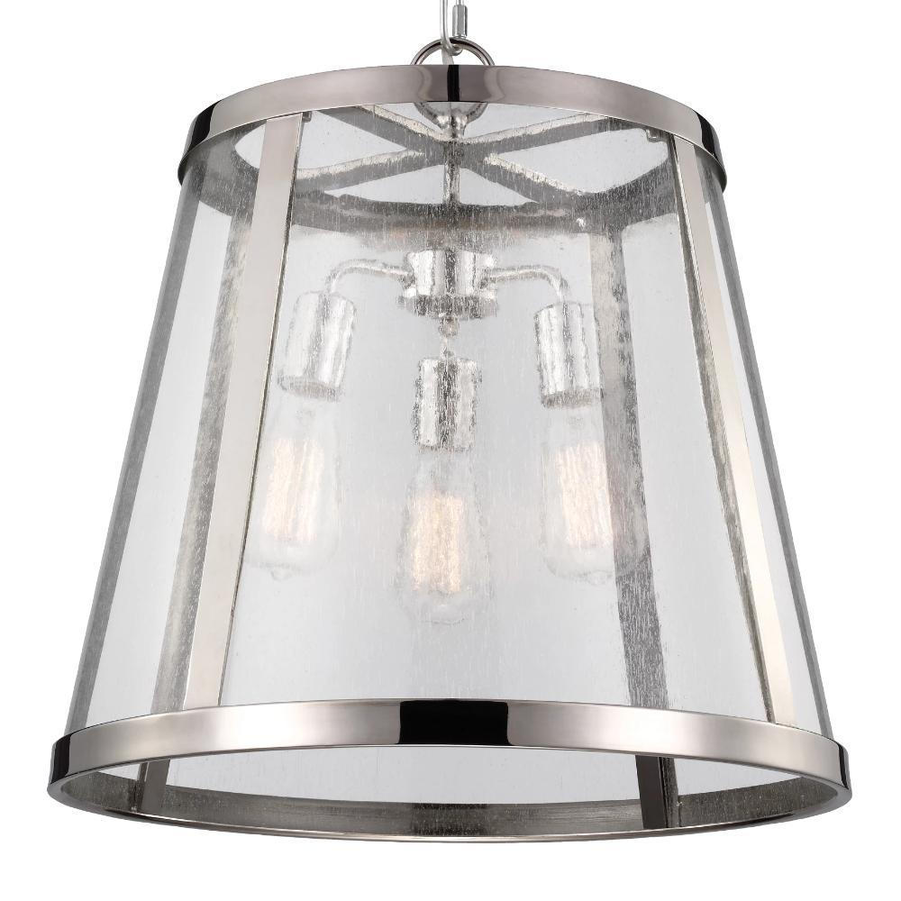Harrow Pendant, 3-Light Pendant, Polished Nickel