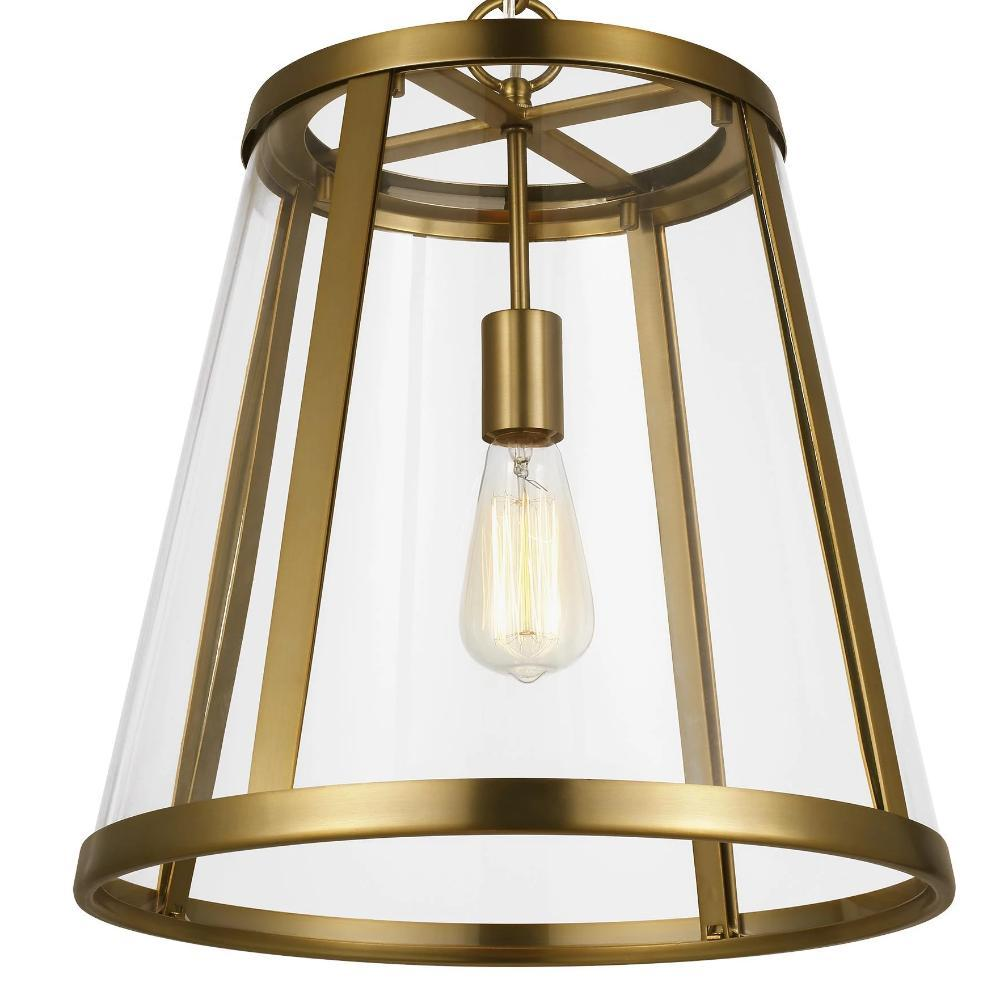 Harrow Pendant, 1-Light Pendant, Burnished Brass