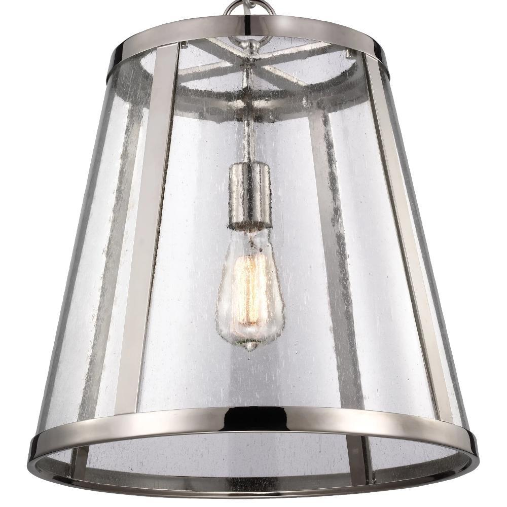 Harrow Pendant, 1-Light Pendant, Polished Nickel