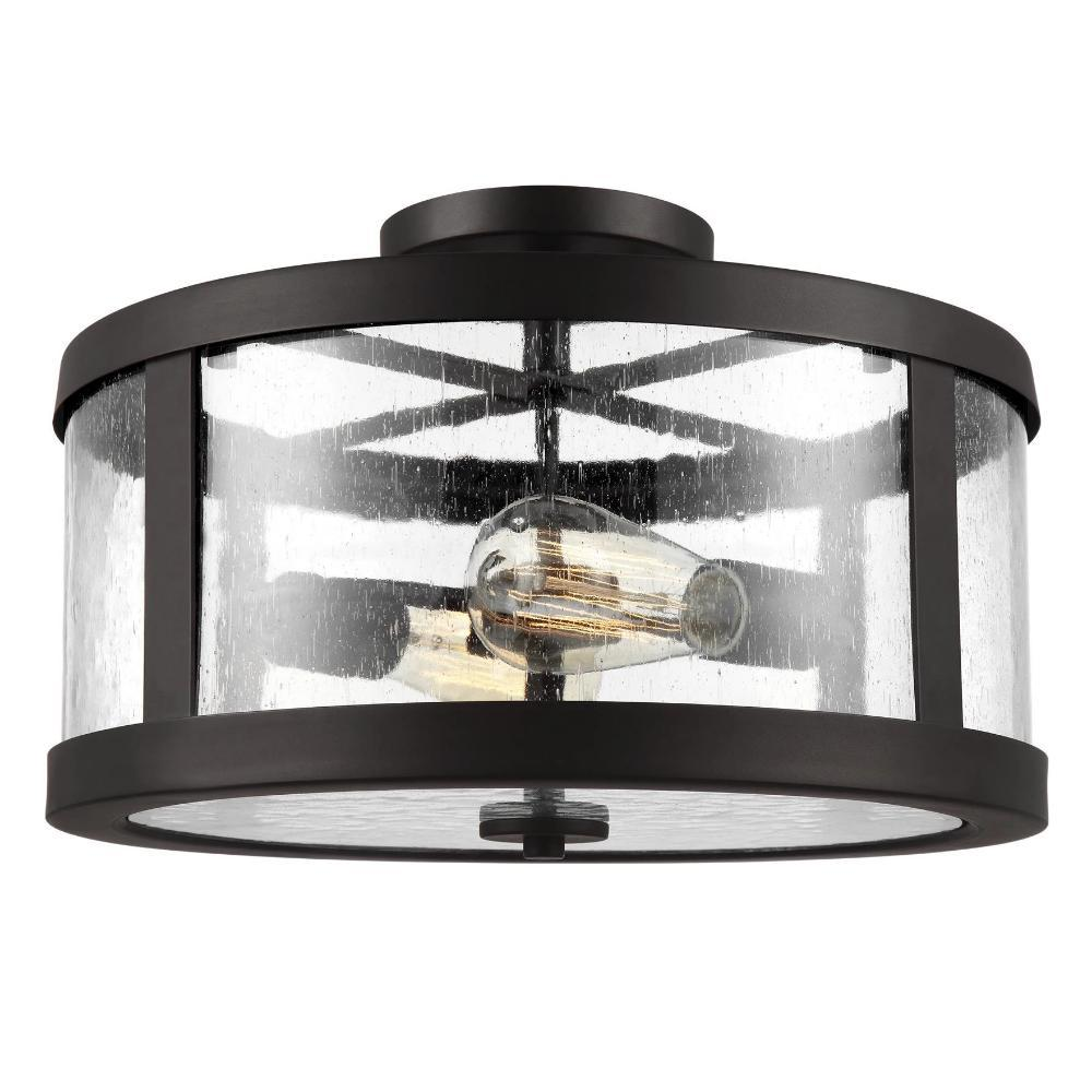 Harrow Ceiling Mount, 2-Light Semi-Flush Mount, Oil Rubbed Bronze