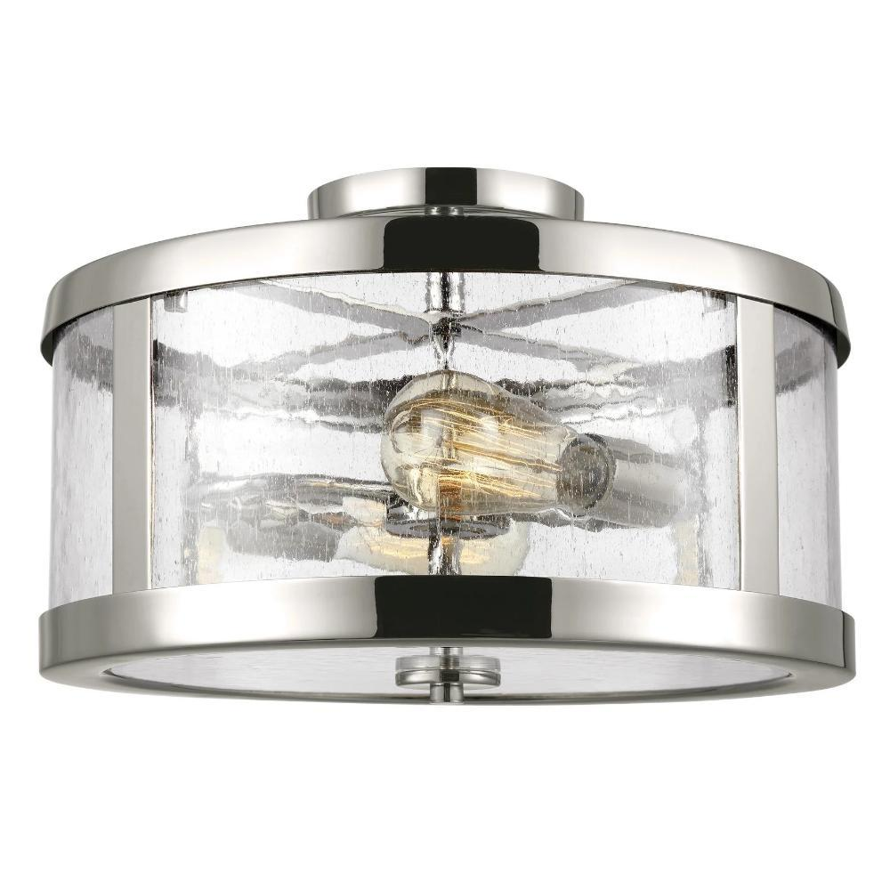 Harrow Ceiling Mount, 2-Light Semi-Flush Mount, Polished Nickel