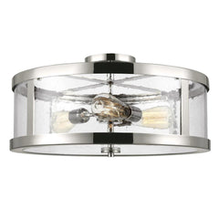 Harrow Ceiling Mount, 3-Light Semi-Flush Mount, Polished Nickel