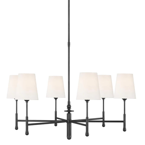 Capri Chandelier, 6-Light Chandelier, Aged Iron