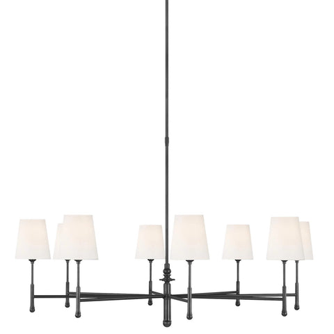 Capri Chandelier, 8-Light Chandelier, Aged Iron