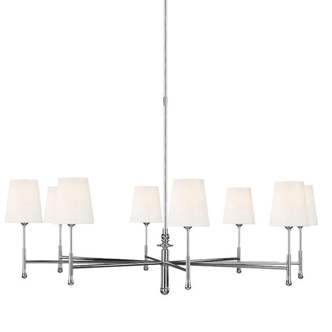 Capri Chandelier, 8-Light Chandelier, Polished Nickel