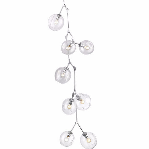 Fairfax 10 light Cascade Cluster Pendant by Avenue Lighting in Matte Chrome HF8080CH