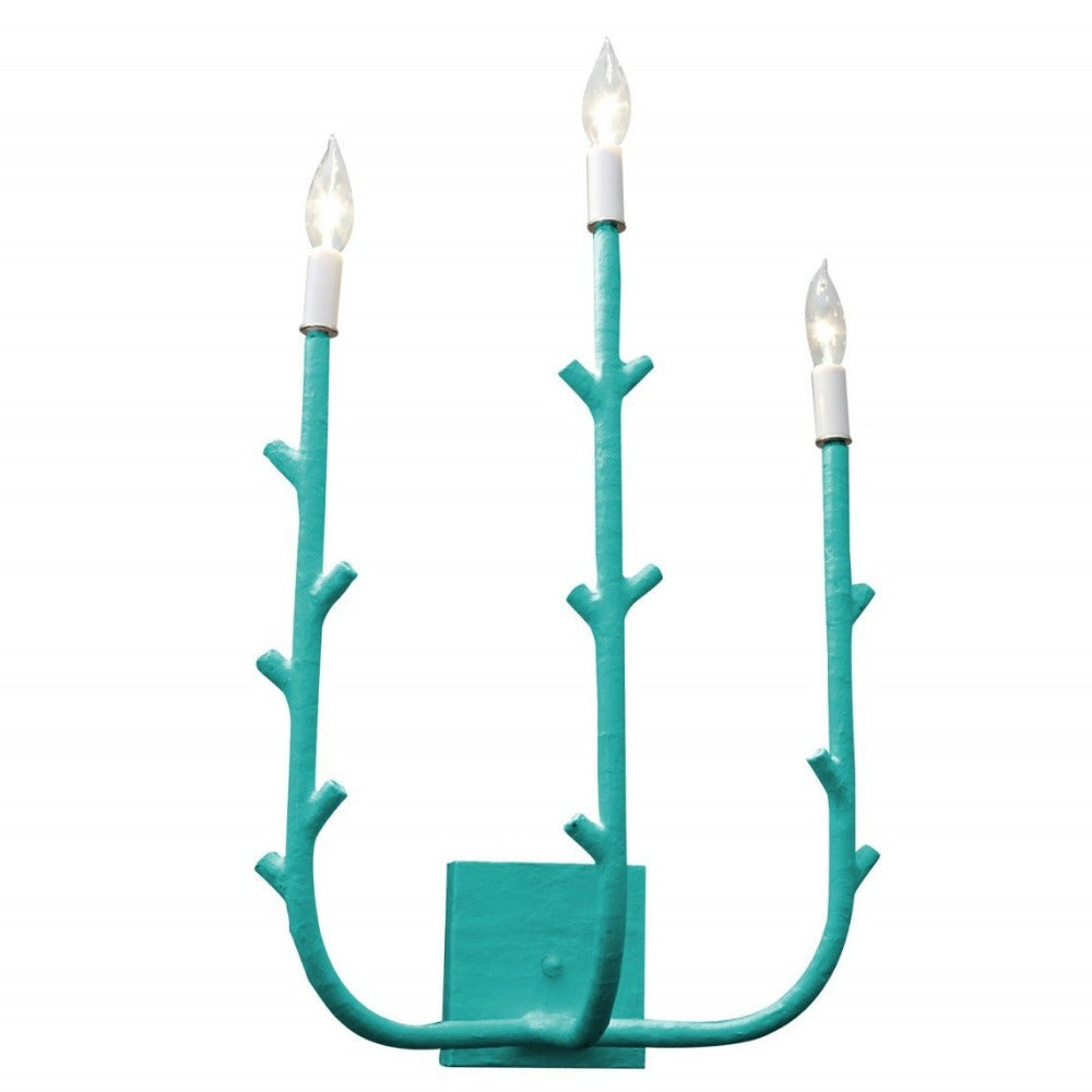 Stray Dog Designs 3 Light Fred Sconce in Bahaman Sea Blue