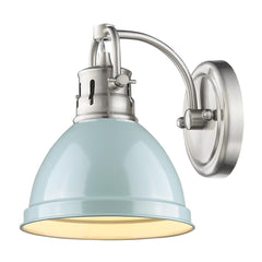 1 Light Bath Light in Pewter with Sea Foam Shade by Golden Lighting 3602-BA1 PW-SF