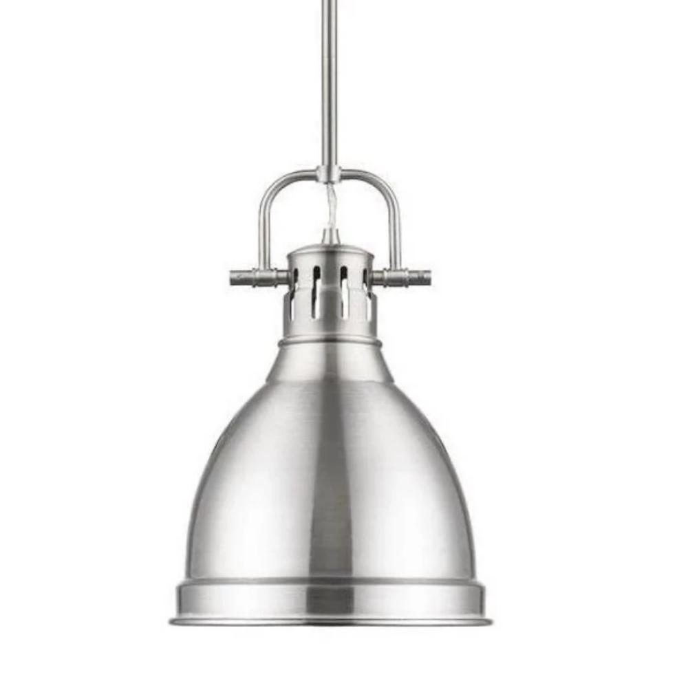 Duncan Small Pendant in Pewter by Golden Lighting 3604-S PW-PW