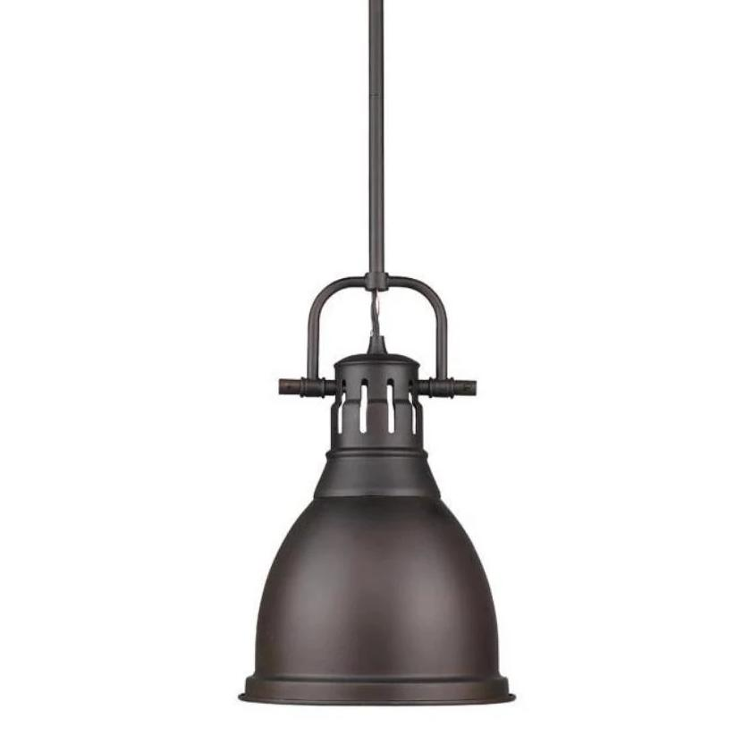 Duncan in Rubbed Bronze by Golden Lighting 3604-S RBZ-RBZ