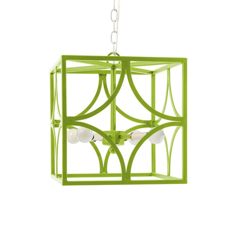 Geo Chandelier Lantern by Stray Dog Designs in Light Green Douglas Fir, Geo Chandelier-Douglas Fir
