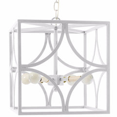 Geo White Chandelier Lantern by Stray Dog Designs, Geo Chandelier-White