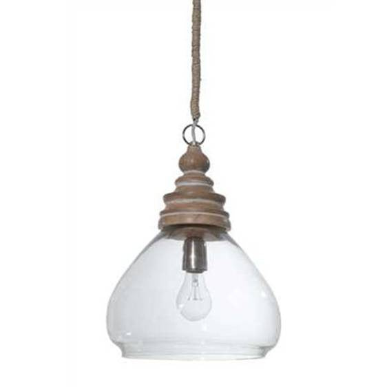 Grange Mango Wood Pendant by Creative Co-Op DA0603