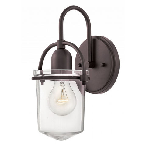 Clancy 1 Light Sconce in Buckeye Bronze with Clear Glass Shade by Hinkley Lighting 3030KZ