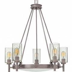 Collier 5 Light Chandelier in Antique Nickel by Hinkley Lighting Collier 3385AN