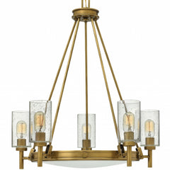 Collier 5 Light Chandelier in Heritage Brass by Hinkley Lighting 3385HB