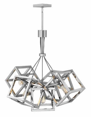 Ensemble 5 Light Chandelier in Polished Nickel by Hinkley Lighting FR42444PNI