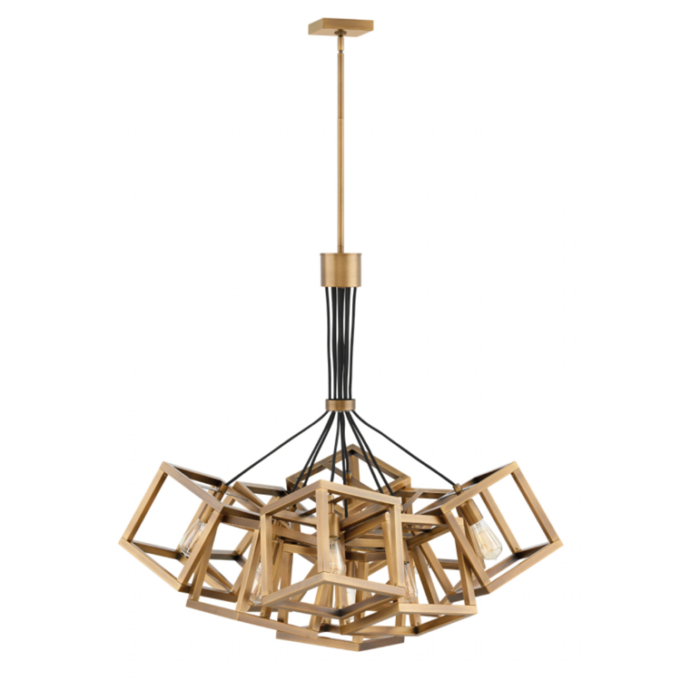 Ensemble 9 Light Chandelier in Brushed Bronze by Hinkley FR42445BBZ
