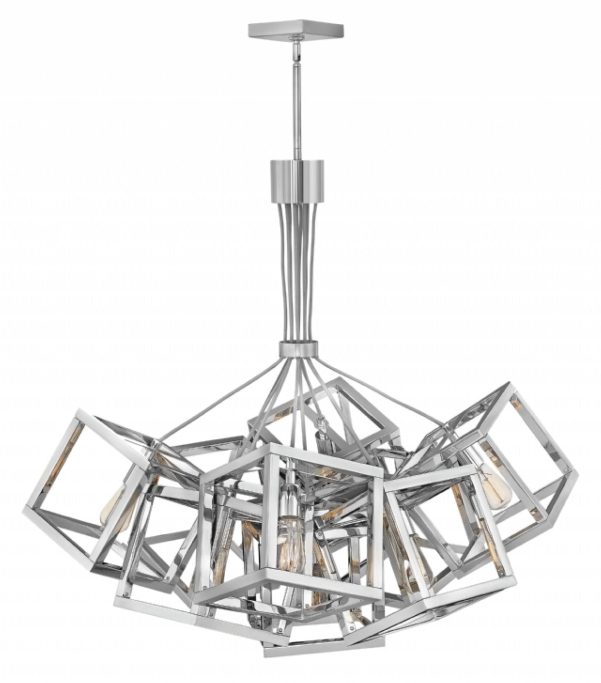 Ensemble 9 Light Chandelier in Polished Nickel by Hinkley Lighting FR42445PN