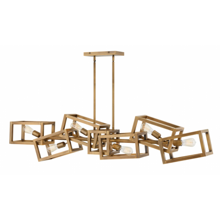 Ensemble 6 Light Linear Chandelier in Brushed Bronze by Hinkley FR42446BBZ