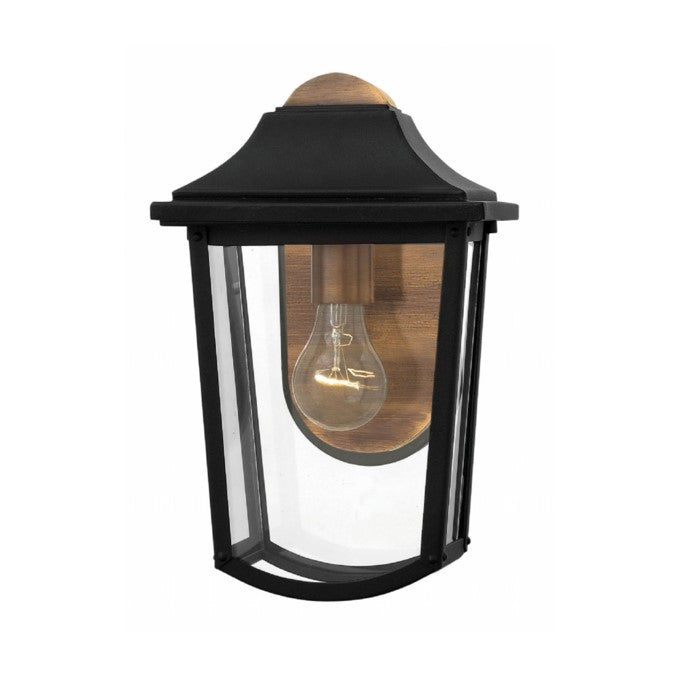 1 Light Burton Outdoor Wall Light in Black and Brass by Hinkley Lighting 1970BK