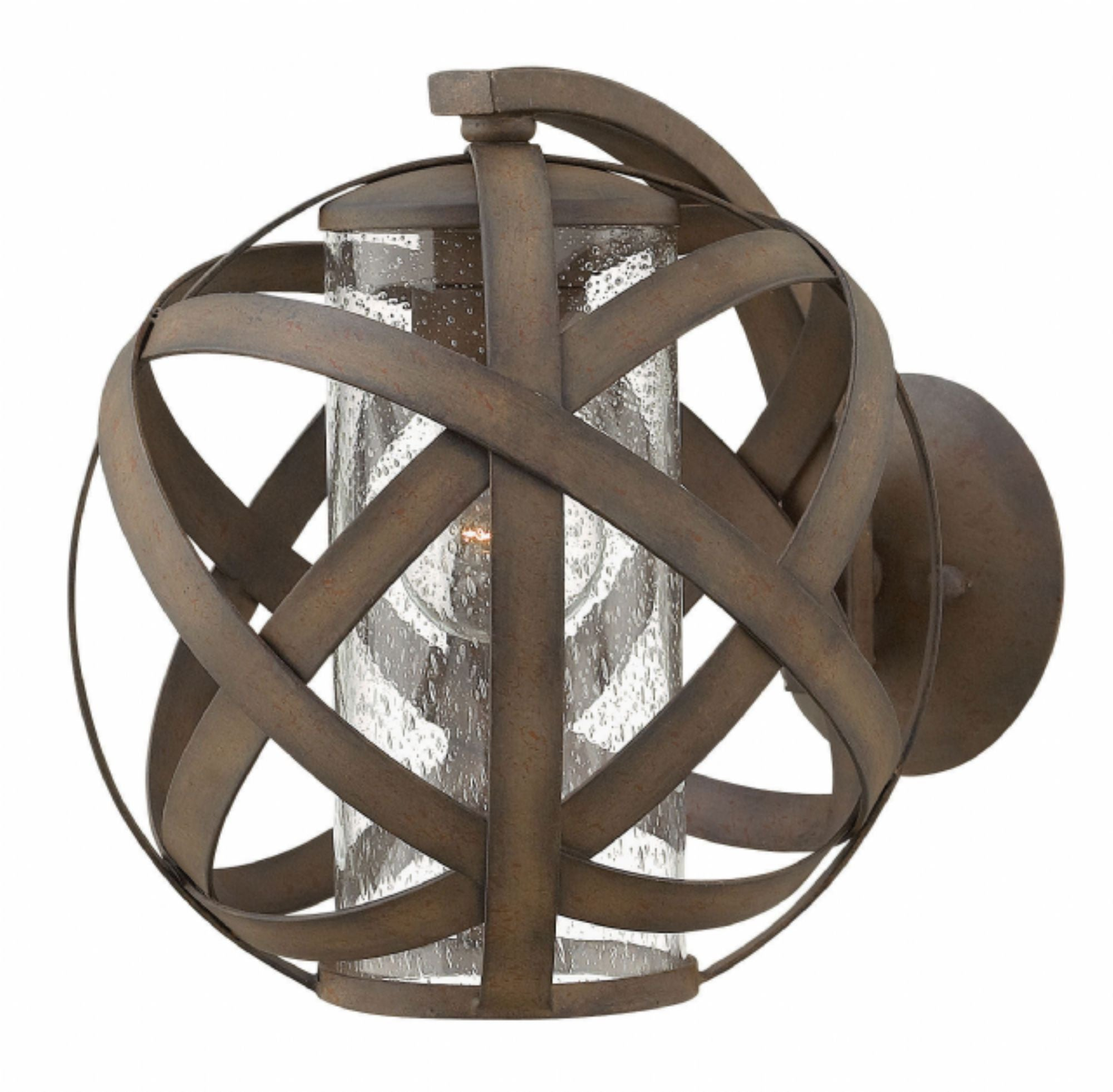 Carson Orb Outdoor Wall Light by Hinkley in Vintage Iron Finish 29700VI