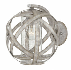 Carson Orb Outdoor Wall Light by Hinkley in Weathered Zinc Finish 29700WZ