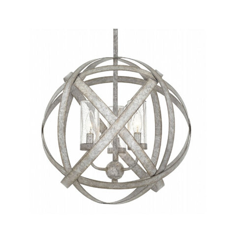 Small Carson Outdoor Orb Chandelier by Hinkley in Weathered Zinc 29703WZ