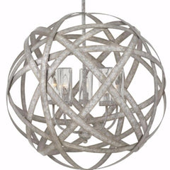 Large Carson Outdoor Orb Chandelier by Hinkley in Weathered Zinc 29705WZ