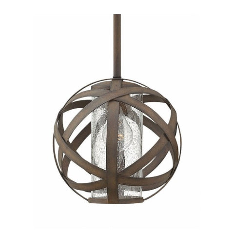 Carson Outdoor Orb Pendant by Hinkley in Vintage Iron 29707VI