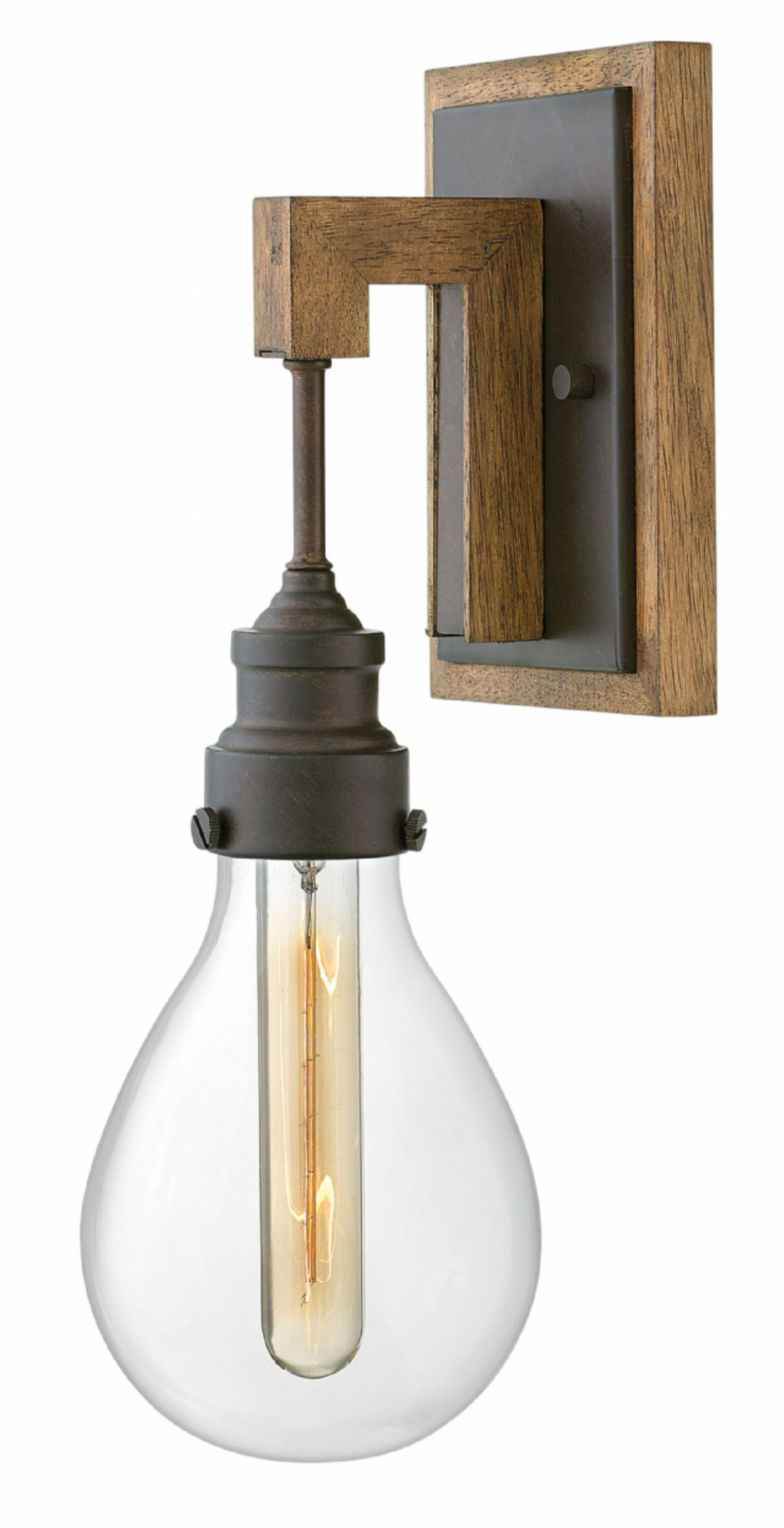 Denton Sconce in Industrial Iron, by Hinkley Lighting, 3260IN
