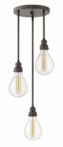 Denton Multi-Light Pendant in Industrial Iron by Hinkley Lighting, 3263IN