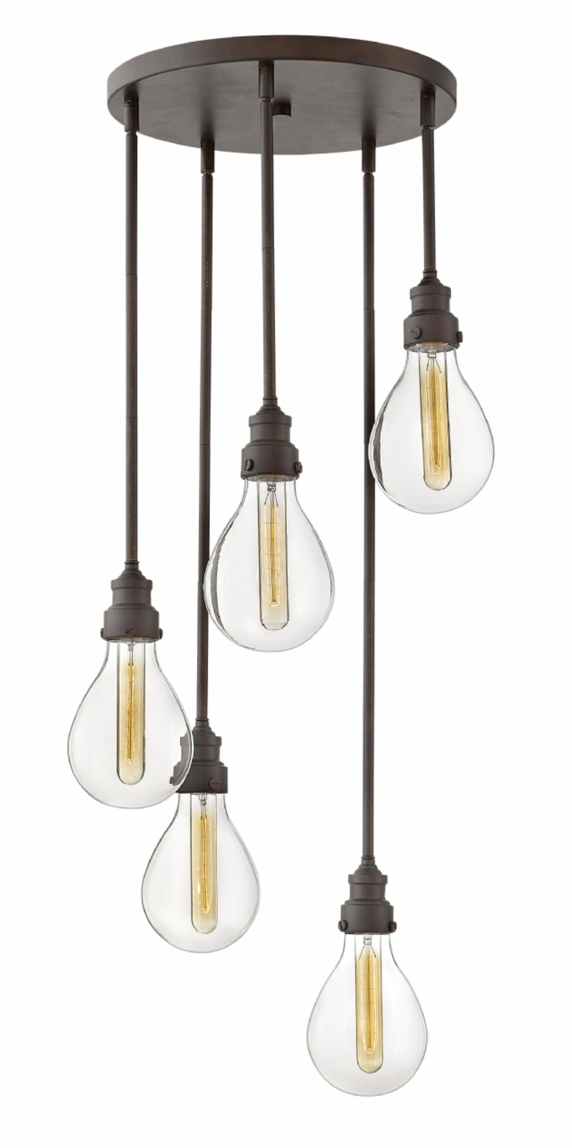 Denton Multi-Light Pendant in Industrial Iron by Hinkley Lighting, 3265IN