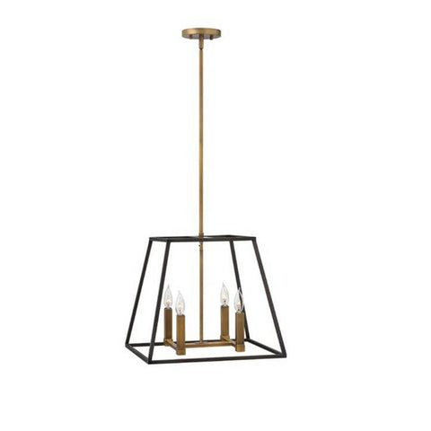 Small 4 Light Fulton Pendant in Bronze by Hinkley Lighting 3334BZ