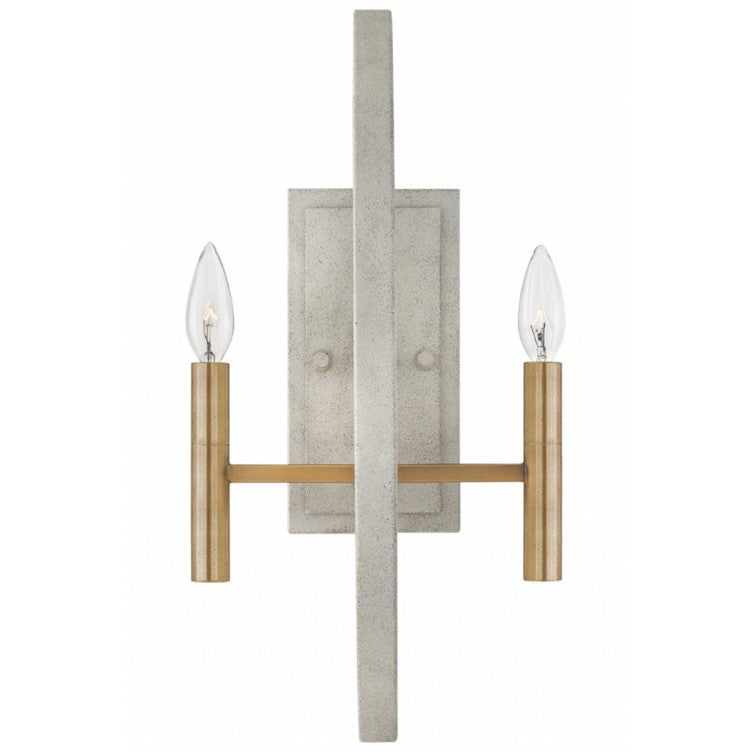 Euclid Sconce in Light Cement Gray with Brass Accents by Hinkley 3460CG