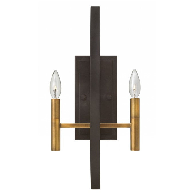 Euclid Sconce in Dark Spanish Bronze with Brass Accents by Hinkley 3460SB