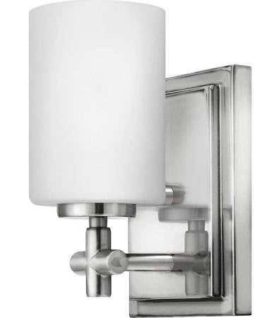 Hinkley 1 Light Laurel Bath Light in Polished Nickel 57550PN